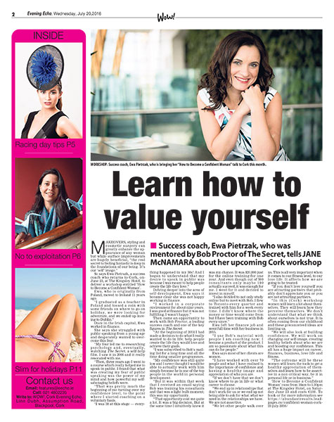 Become a Confident Woman – Evening Echo Interview