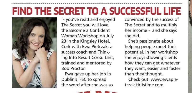Sunday World: Find the secret to a successful life
